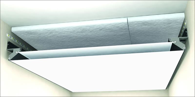 Acoustic Barrisol Ceilings A15 NANOPERF® - with insulation