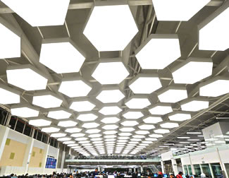 Luminous acoustic Barrisol CLIM ceilings